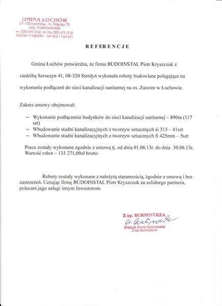 Gmina Łochów referencje